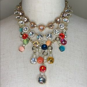 Jewelry - Betsey Johnson Rhinestone & Stone Necklace